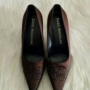 Enzo Angiolini satin lined exterior shoes